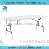 durable 180cm outdoor plastic folding dining table and chair with bolt /high quality plastic dining table