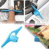 New design Multifunctional Thumb Plastic Convenient Reading Helper Book Page Holder Finger Bookmark
