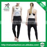 Ramax Custom Women Black Tapered Leg Baggy Harem Yoga Pants