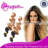 ombre bundles 100% remy human hair extension two tone ombre brazilian hair weave wet and wavy
