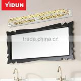 Aluminum + K9 crystal 10w light fixtures for bathroom mirror 400mm