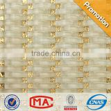JY-G-1 Foshan special mosaic distributor Wave gold glass mix beige Vaulted crystal mosaic tile Buddhist temples dedicated Mosaic