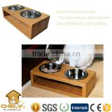 Solid bamboo hotselling Dog bowl,Pet Diner, Pet feeder for indoor using