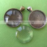 glass cabcohosn do not have holes // Dichroic Glass Cabochons // wholesale clear 22mm round glass cabochon