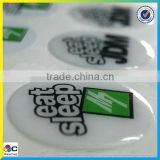 top quality environmental clear epoxy resin sticker,custom epoxy sticker, custom dome sticker