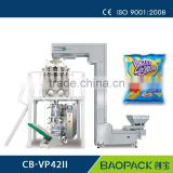 CB-VP52A small potato chips packing machine,with combination heads /auger filler weighing system