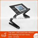 Fashion folding design customized logo printing laptop table bed computer desk