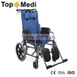 Rehabilitation Therapy Supplies Topmedi Equipments Quick Delivery Aluminum Folding Cerebral Paralysis wheelchair for children
