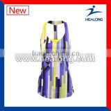 Nice slim fit breathable tennis uniform for ladies,tennis dress