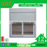 Home Use UPVC Windows Wooden Roller Shutter Manufacture Design Double Glass Window and Doors