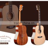 AA+ grade spurce solid & acacia round body with EQ mahogany neck rosewood fingerboard acoustic guitars