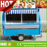 chinese snack trailer, shaved ice cart, refrigerated food carts for sale