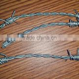 HT wire 2.5mm hot dipped galvanized barbed wire used for airport fence security / barbed wire discount price per meter