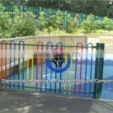 factory direct wholesale portable garden fence/coated border green garden wire mesh fence/garden fence panels prices