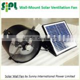 SUNNY FAN Solar Energy Rechargeable Air Conditioning Wall Mount Fan 14 inch galvanized stainless steel Air Ventilation Fan