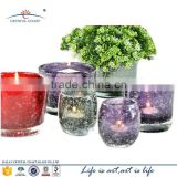 DALIAN Factory bubble style bulk glass crystal votive candle holder