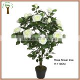 white artificial rose flowering tree