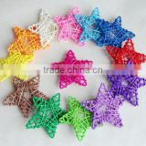 Decorative rattan star/ wicker star, crazy weaving, rattan ball