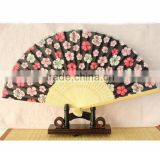 Folk style wedding favor custom printed logo folding bamboo fan folding wedding hand fan