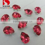 Decorative light fuchsia crystal point back garment stone with claw