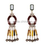 Vintage ethnic beads pendant drop earrings for women