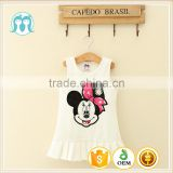 Summer sleeveless White Vietnam baby cute dress Unique baby girl names dresses Lovely Cartoon photos clothing