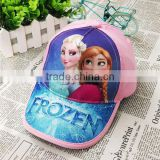 Movie Frozen Hat with Baseball Cap Peaked Casquette Elsa Anna Cosplay Costume Accessory Baby Kids Girl Frozen Hat