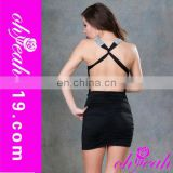 Hot wholesale party woman backless black club dresses,short club party dresses,photos sexy open