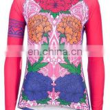 OEM Cycling Wear women sublimation print cycling jersey long sleeve