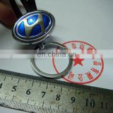 Customize pvc key ring with car brand logo