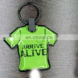 Team jersey shaped soft PVC LED keychain