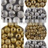 Western popular gold silver nail bead art nail