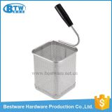 Single Handle Stainless Steel Mesh Pasta Cooker Basket