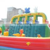 Hot sale and funny inflatable sports combo fun city inflatable rock climbing/slide for children