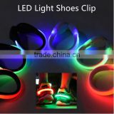 2Pcs Night Safety Reflector LED Flashing Shoe Clip Waterproof Glow Bright Lights
