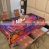 Indian Cotton Table Cloth Multicolored Dyed Love Girl Art Printed Dinning Vintage Wall Hanging Throw Bed Sheet Cover TC62