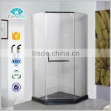 high quality modern simple 304 stainless steel tub shower screen with CE certificate bathtub sliding shower screen
