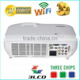 Christmas Gift Full HD,1080P ,Perfect bright colors ,native 1920x1080,multimedia 3D +3LCD +RGB LED Projector
