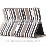 Hot Sale case for Ipad Air 2 leather case, with stripes design