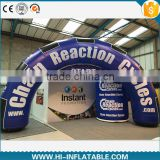 outdoor activity popular promotional inflatable blue arch with logo printing for advertising