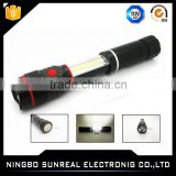 Foldable XPE Led chip Plastic flashlight COB magnetic torch light Flashlight camping light 2 in 1