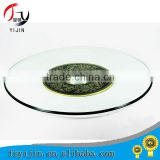 Wholesale natural glass lazy susan turnplate .hotel equipment for wedding/hotel