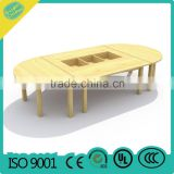 wooden desk and chairs Adjustable Kindergarten School Furniture kindergarten play desk
