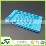 PS blue good quality 14 pen plastic stationery packaging box