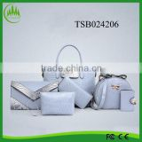 2016 trending products ladies promotional made in china new handbags PU leather handbag sets