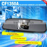super clear image car rear view mirror 3.5 inch tft lcd monitor with 2 channel video input