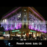 holiday lights LED pink decoration curtain light with ball ornaments for wedding decoration