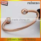 100% Copper Bangle Magnets Health Balance magnetic pure copper bracelet