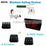 Wireless Waiter Call Button System 12V 433 MHZ Waiter Buzzer Customized Table Food Waiter Restaurant Call Bell K-2000C+K-F3-BB