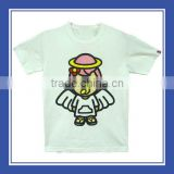 Top Quality With Pattern Angel Baby with Wings Women Cotton Printed Short Sleeve White Tee